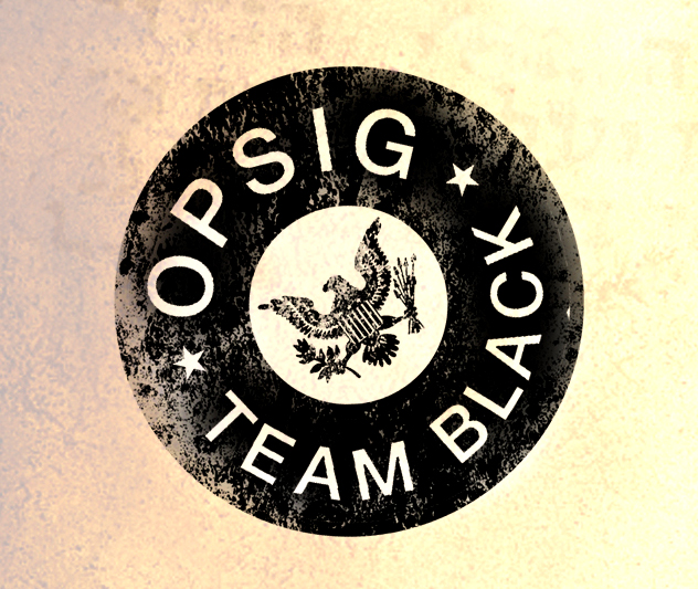 OPSIG Team Black medallion